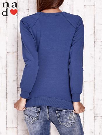 Ciemnoniebieska bluza z piórkiem                                  zdj.                                  4
