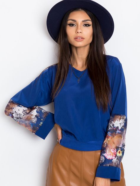 Ciemnoniebieska bluzka Carnival                              zdj.                              5