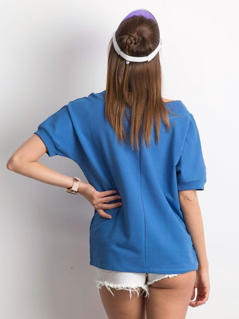 Ciemnoniebieska bluzka Lemontree                              zdj.                              2