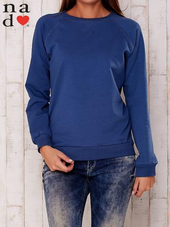 Ciemnoniebieska gładka bluza