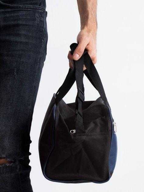 Ciemnoniebieska męska torba na ramię                              zdj.                              3