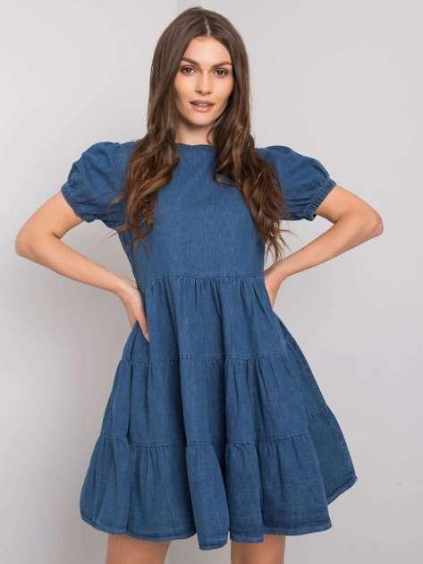 Ciemnoniebieska sukienka jeansowa Anissa RUE PARIS