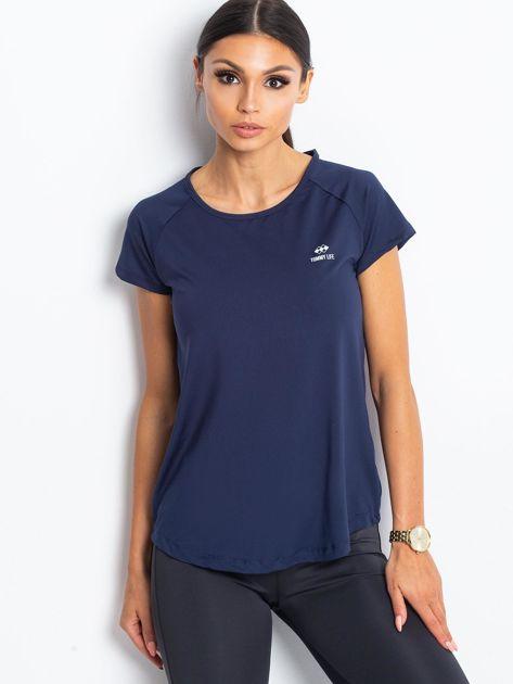 Ciemnoniebieski damski t-shirt TOMMY LIFE                              zdj.                              1