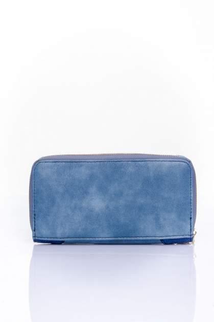 Ciemnoniebieski portfel ze złotą klamerką                                  zdj.                                  2