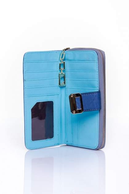 Ciemnoniebieski portfel ze złotą klamerką                                  zdj.                                  4