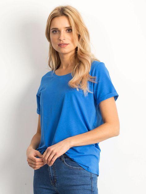 Ciemnoniebieski t-shirt Transformative                              zdj.                              3