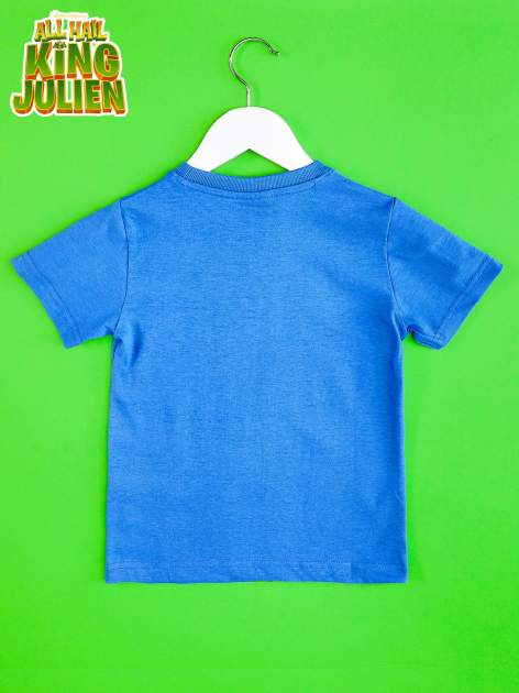 Ciemnoniebieski t-shirt chłopięcy KRÓL JULIAN                                  zdj.                                  2