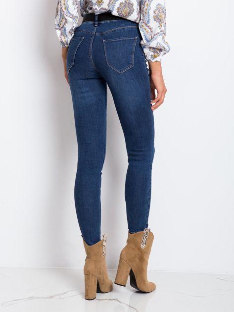 Ciemnoniebieskie jeansy Risen                              zdj.                              2