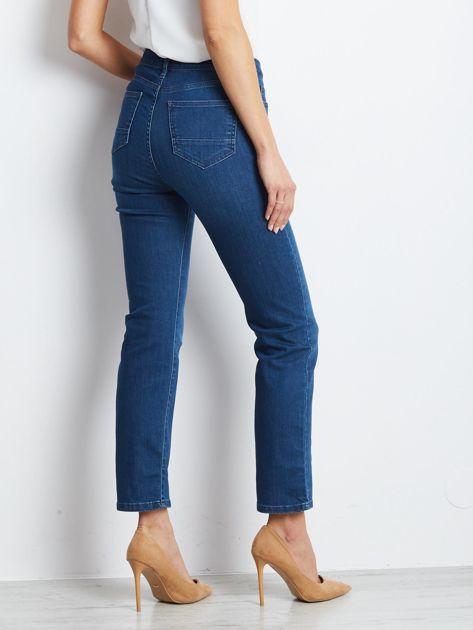 Ciemnoniebieskie jeansy Straight                              zdj.                              2