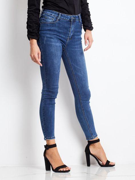 Ciemnoniebieskie jeansy Tantalizing                              zdj.                              3
