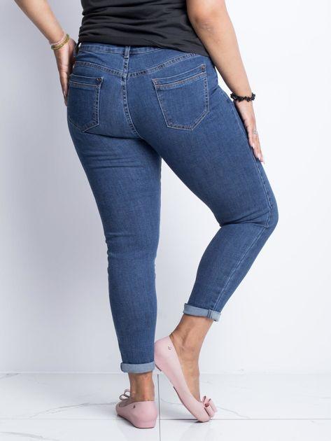 Ciemnoniebieskie jeansy plus size Souvenir                              zdj.                              2