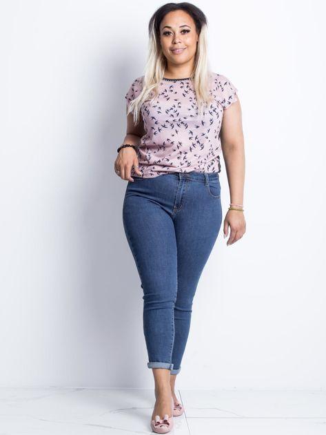 Ciemnoniebieskie jeansy plus size Souvenir                              zdj.                              4