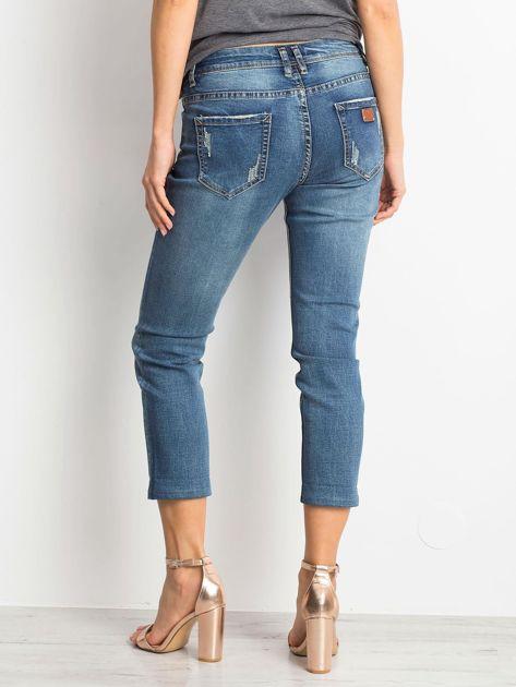 Ciemnoniebieskie spodnie jeansowe Renamed                              zdj.                              2