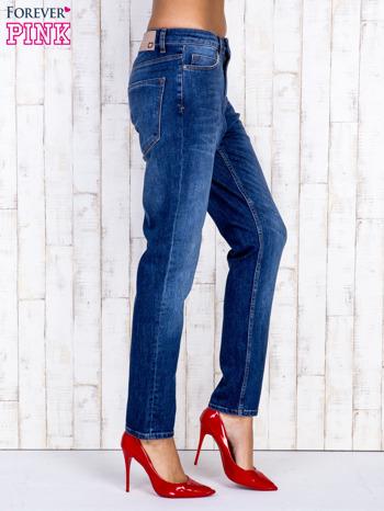 Ciemnoniebieskie spodnie jeansowe z wysokim stanem                                  zdj.                                  2
