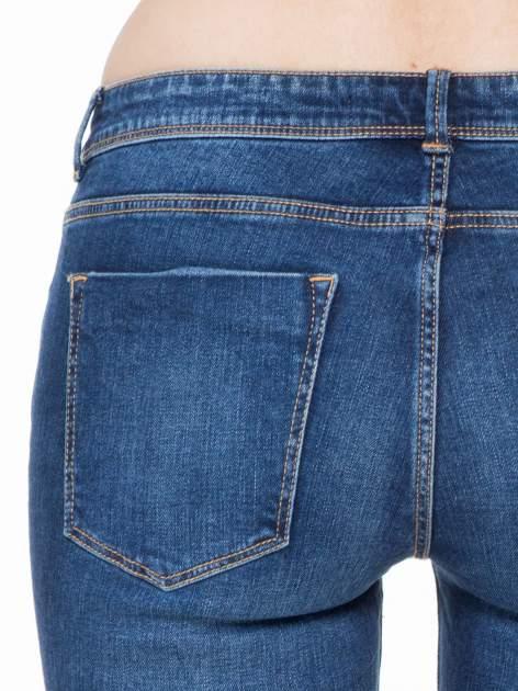 Ciemnoniebieskie spodnie typu skinny jeans z cieniowaniem                                  zdj.                                  6