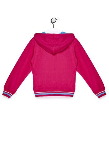 Ciemnoróżowa bluza dla dziewczynki z cekinowym napisem