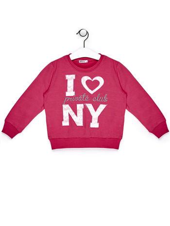Ciemnoróżowy komplet dla dziewczynki bluza i spodnie                              zdj.                              2