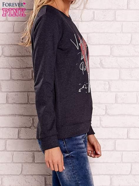 Ciemnoszara bluza z motywem paryskim                                  zdj.                                  3