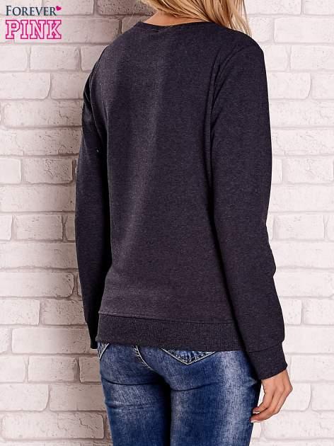 Ciemnoszara bluza z motywem paryskim                                  zdj.                                  4