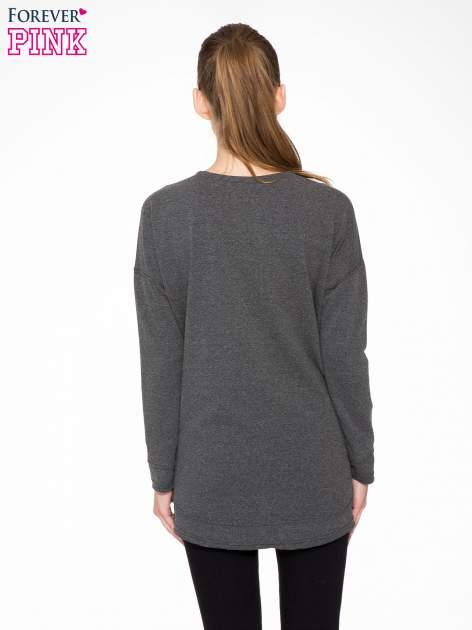 Ciemnoszara bluza z nadrukiem MEOW                                  zdj.                                  4