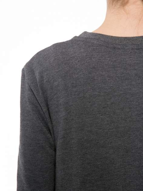 Ciemnoszara bluza z narukiem AIN'T LAURENT WITHOUT YVES                                  zdj.                                  7