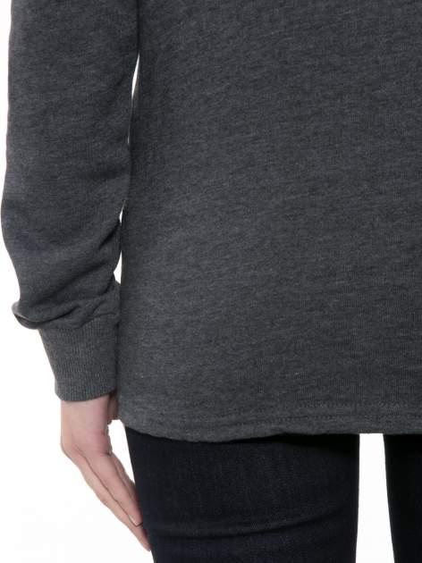 Ciemnoszara bluza z narukiem AIN'T LAURENT WITHOUT YVES                                  zdj.                                  8