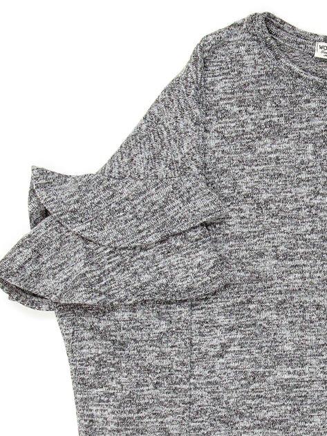 Ciemnoszara bluzka dziewczęca z falbankami na rękawach                              zdj.                              7