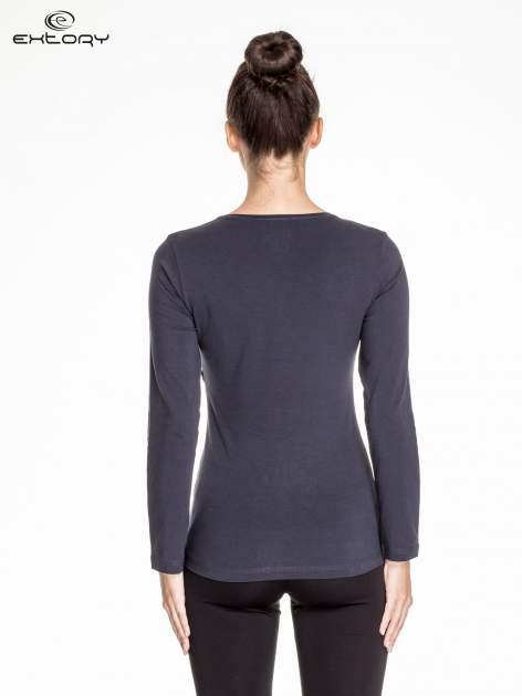 Ciemnoszara bluzka sportowa basic PLUS SIZE                                  zdj.                                  4