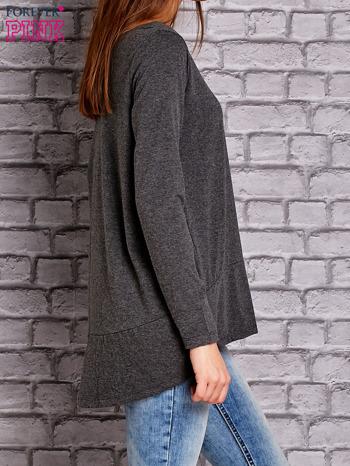 Ciemnoszara bluzka z wiązaniem na plecach                                  zdj.                                  4