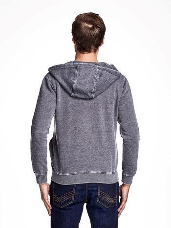Ciemnoszara dekatyzowana bluza męska z asymetrycznymi suwakami                                  zdj.                                  2