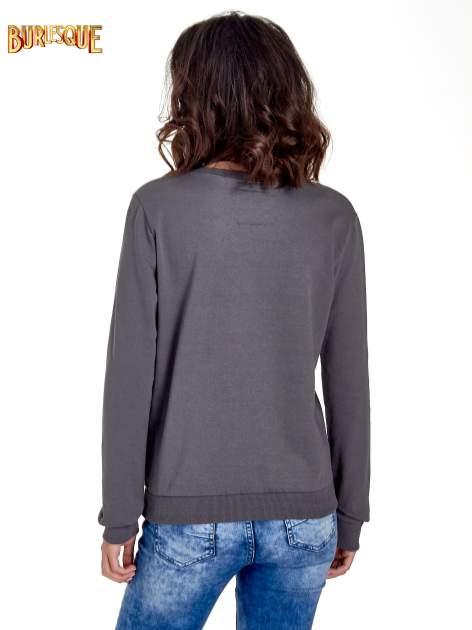 Ciemnoszara klasyczna bluza damska z napisem IN LIFE SIMPLE IS BEST                                  zdj.                                  4