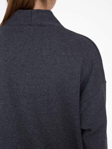 Ciemnoszara otwarta bluza dresowa                                  zdj.                                  8