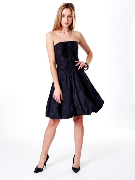 Ciemnoszara rozkloszowana sukienka                               zdj.                              4