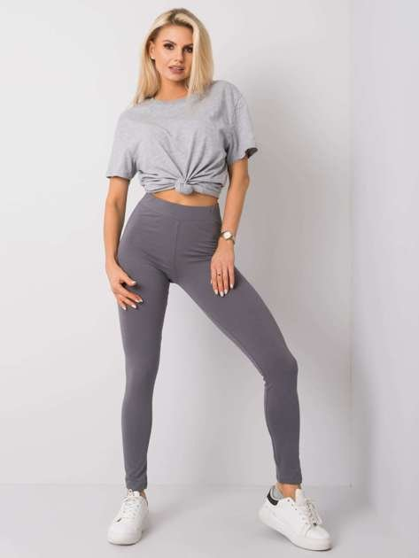 Ciemnoszare legginsy Basic