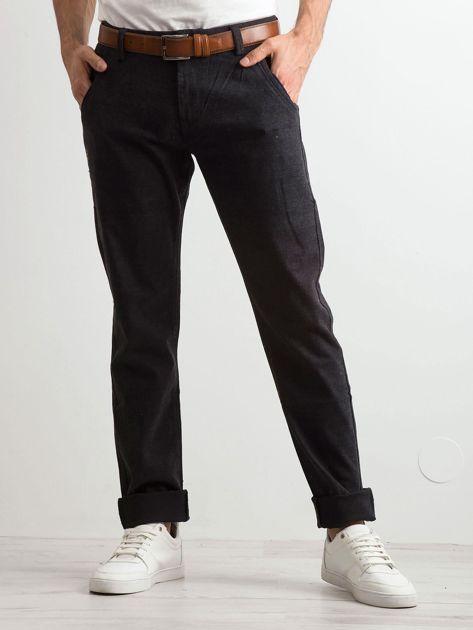 Ciemnoszare spodnie męskie                              zdj.                              1