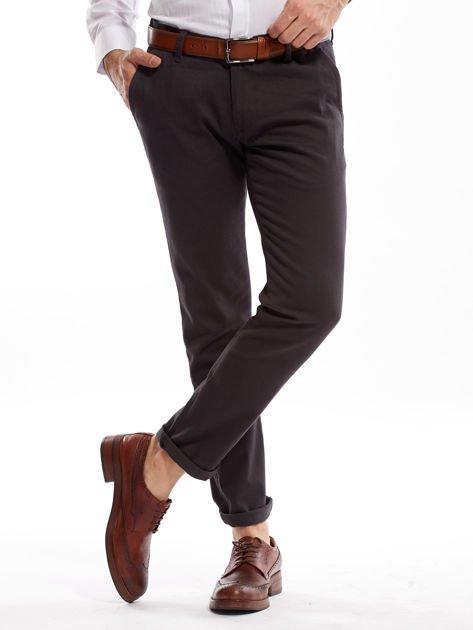 Ciemnoszare spodnie męskie chinos                              zdj.                              6