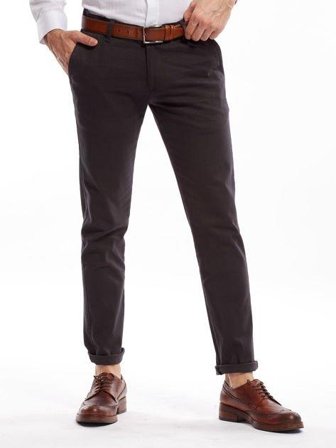 Ciemnoszare spodnie męskie chinos                              zdj.                              1
