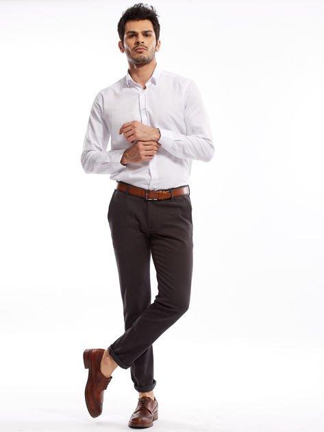 Ciemnoszare spodnie męskie chinos                              zdj.                              12