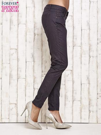 Ciemnoszare spodnie rurki w jodełkę                                  zdj.                                  2
