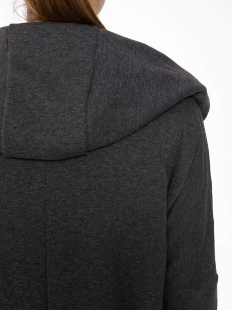 Ciemnoszary płaszczyk dresowy bluza z kapturem                                  zdj.                                  5