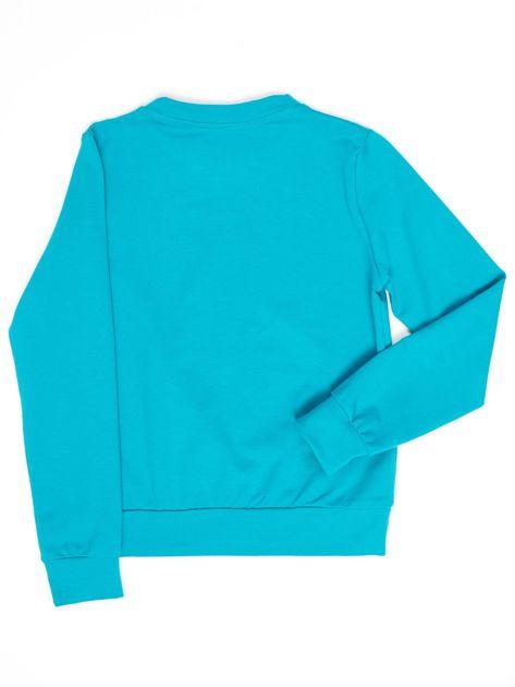 Ciemnozielona bluza młodzieżowa                              zdj.                              2