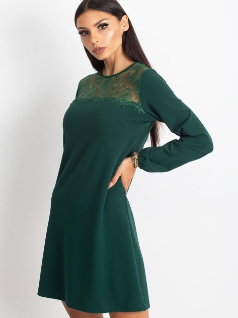 Ciemnozielona sukienka Bombay                              zdj.                              3