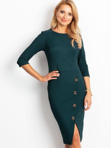 Ciemnozielona sukienka Shape                              zdj.                              1