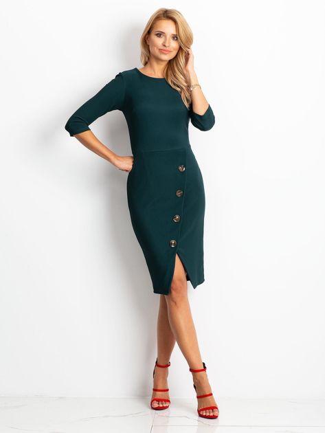 Ciemnozielona sukienka Shape                              zdj.                              4