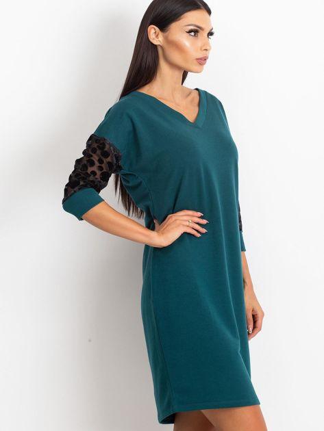 Ciemnozielona sukienka Stream                              zdj.                              3
