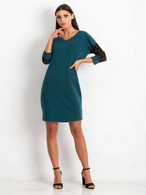 Ciemnozielona sukienka Stream                              zdj.                              4