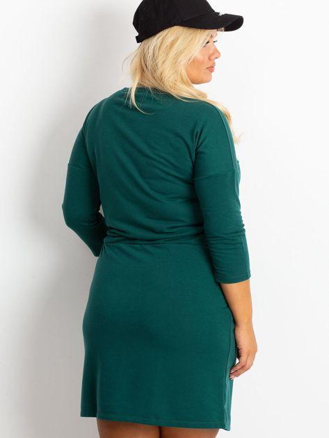 Ciemnozielona sukienka plus size Lyric                              zdj.                              2