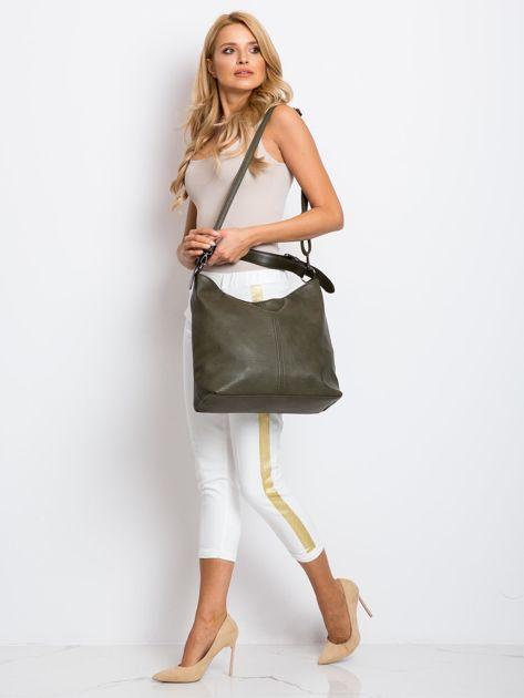 Ciemnozielona torba damska                              zdj.                              4