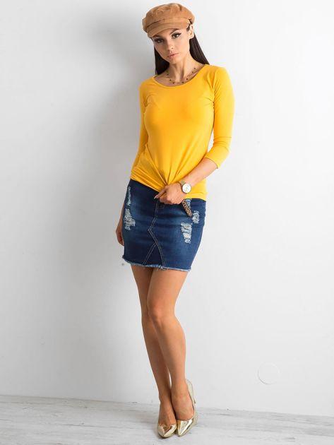 Ciemnożółta bluzka Mona                              zdj.                              4