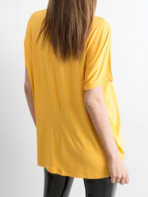 Ciemnożółta bluzka Oversize                              zdj.                              2